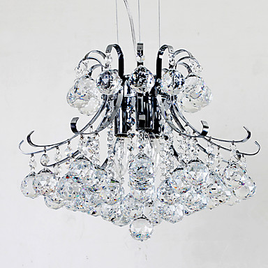 anheng lys omgivende lys galvanisert metall ny design krystall lysekroner krom ferdig anheng lysarmaturer flush mount soverom taklampe armaturer