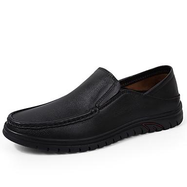 Ανδρικά Δερμάτινα παπούτσια Συνθετικά Άνοιξη / Φθινόπωρο Μοκασίνια & Ευκολόφορετα Αναπνέει Μαύρο