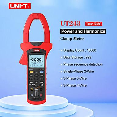 uni-t ut243 strøm og harmonisk klemmemåler sant rms klemmeffektmåler datalagring usb dataoverføring / lcd-bakgrunnsbelysning