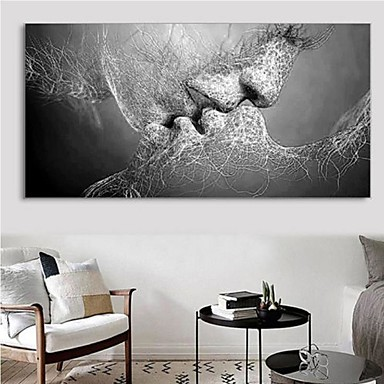 preiswerte Bilderrahmen-Yiwu pho_07at Adern Zeichen liebevolle Kuss Kuss Dekoration Malerei tiefen Kuss Dekoration Malerei Bildkern gray_20x30cm