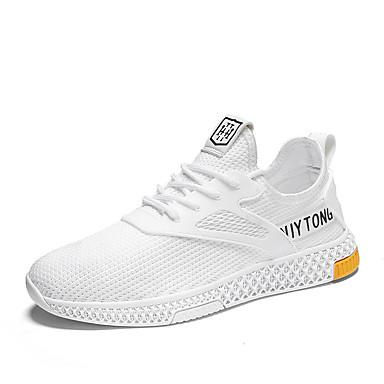Ανδρικά Παπούτσια άνεσης PU / Φουσκωτό πηνίο Καλοκαίρι Αθλητικό Αθλητικά Παπούτσια Τρέξιμο Μη ολίσθηση Μαύρο / Μπεζ / Γκρίζο