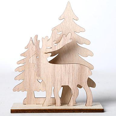 Στολίδια Ξύλο 3pcs Χριστούγεννα