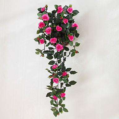 Kunstige blomster 1 Gren Klassisk Moderne Roser Evige blomster Veggblomst