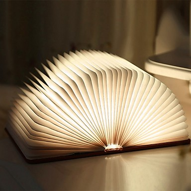 cheap Décor & Night Lights-1pc Book Table Night Lamp Built-in Li-Battery Powered Foldable / Rechargeable / Magnetic