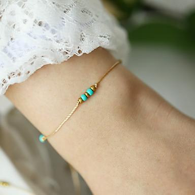 Mulheres tear Bracelet Entrançado Paz Simples Clássico Vintage Cordão Pulseira de jóias Dourado Para Diário Trabalho Festival