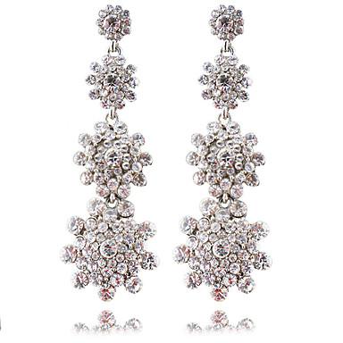 povoljno Modne naušnice-Žene Bijela Viseće naušnice visiti Naušnice Chandelier Cvijet Romantični Slatka Style Ogroman Naušnice Jewelry Pink Za Vjenčanje Party Karneval Festival 1 par