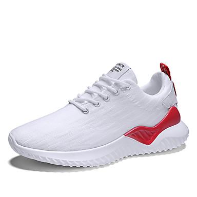 Ανδρικά Παπούτσια άνεσης Ελαστικό ύφασμα Ανοιξη καλοκαίρι Αθλητικό Αθλητικά Παπούτσια Αναπνέει Μαύρο και Χρυσό / Μαύρο και Άσπρο / Λευκό