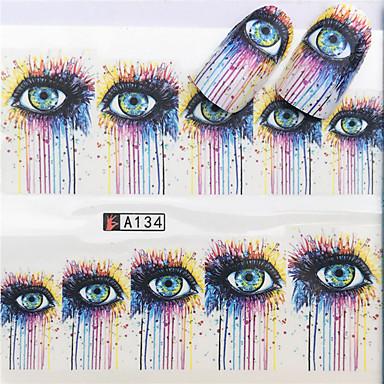 1 pcs Αυτοκόλλητα Ρομαντική σειρά τέχνη νυχιών Μανικιούρ Πεντικιούρ Mini Style / Ασφάλεια / Λεπτή σχεδίαση Στυλάτο / Απλός Καθημερινά / Φεστιβάλ