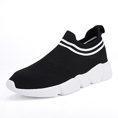 Ανδρικά Φως πέλματα Πλεκτό Καλοκαίρι Αθλητικό / Καθημερινό Αθλητικά Παπούτσια Τρέξιμο / Περπάτημα Αναπνέει Μαύρο / Κόκκινο