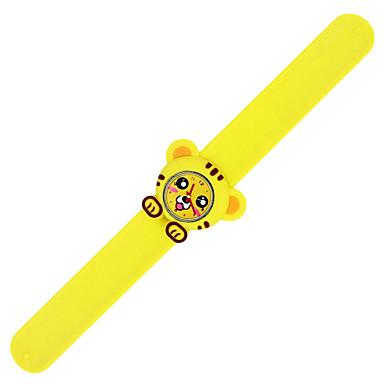 levne Dámské-Náramkové hodinky Silikon Analogové Tmavě žlutá Růžová Citrónová / Nerez