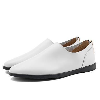 Ανδρικά Δερμάτινα παπούτσια Δερμάτινο Καλοκαίρι / Ανοιξη καλοκαίρι Καθημερινό / Βρετανικό Μοκασίνια & Ευκολόφορετα Περπάτημα Αναπνέει Μαύρο / Καφέ / Λευκό / Γραφείο & Καριέρα / Οδήγηση παπούτσια