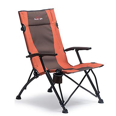 camping stol med koppholder Bærbar Sammenleggbar Bekvem Holdbar Ståltube Oxford til 1 person Camping Camping / Vandring / Grotte Udforskning Reise Picnic Høst Vår Oransje