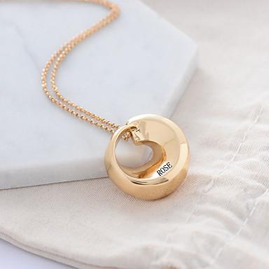 Εξατομικευμένη Προσαρμοσμένη Κρεμαστό Όνομα Κολιέ Κλασσικό Χαραγμένο Δώρο Υπόσχεση Φεστιβάλ Geometric Shape 1pcs Χρυσό