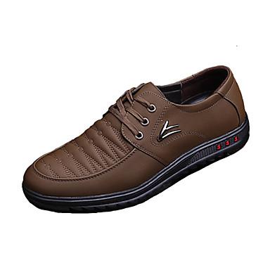 Ανδρικά Παπούτσια άνεσης Μικροΐνα Καλοκαίρι Καθημερινό Αθλητικά Παπούτσια Αναπνέει Ριγέ Μαύρο / Καφέ / Σκούρο καφέ