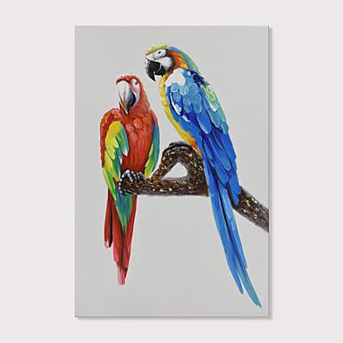 Hang-ζωγραφισμένα ελαιογραφία Ζωγραφισμένα στο χέρι - Ποπ Άρτ Μοντέρνα Περιλαμβάνει εσωτερικό πλαίσιο
