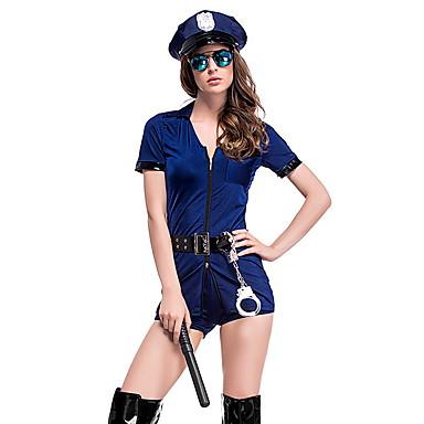 povoljno Odjeća i obuća za ples-Policajci Kostim Žene Karijera Halloween Seksi blagdanski kostimi Cosplay nošnje Tematska zabava Kostimi Žene Plesni kostimi Poliester Pojas