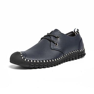 Ανδρικά Παπούτσια άνεσης Νάπα Leather Καλοκαίρι Καθημερινό / Βρετανικό Oxfords Περπάτημα Αναπνέει Μπότες στη Μέση της Γάμπας Κίτρινο / Μπλε / Φούντα
