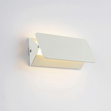 led veggbelysning stue justerbar rektangulær vegg lys skall roterbar led vegg sconce hvitt metall sconce for stue entré gangen