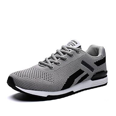 Ανδρικά Παπούτσια άνεσης Δίχτυ Καλοκαίρι Καθημερινό Αθλητικά Παπούτσια Περπάτημα Αναπνέει Μαύρο / Λευκό / Γκρίζο / Αθλητικό / Φορέστε την απόδειξη