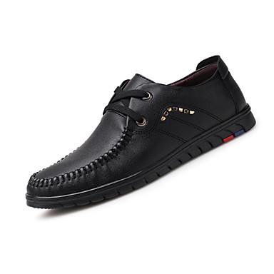 Ανδρικά Τα επίσημα παπούτσια Νάπα Leather Καλοκαίρι Δουλειά / Βρετανικό Oxfords Περπάτημα Αναπνέει Μαύρο / Καφέ / Καφέ / Γάμου