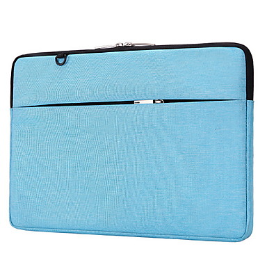 preiswerte Laptoptaschen-Segeltuch Reißverschluss Laptop Tasche Volltonfarbe Alltag Rose Rosa / Marinenblau / Dunkelgrau