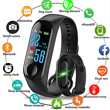 cheap Smart Electronics-M3 Smart Wristband BT Fitness Tracker Support Notify/ Heart Rate Monitor Waterproof Sport Bluetooth Smartwatch Compatible IOS/Android Phones