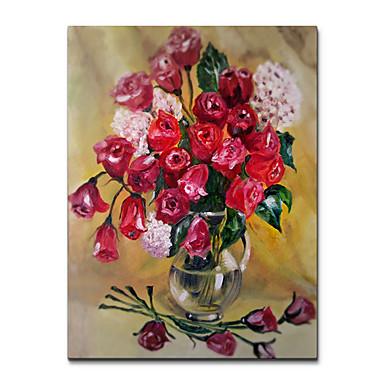 Blomst / Botanikk Veggdekor Tre / polyester Europeisk Veggkunst, Veggtepper Dekorasjon