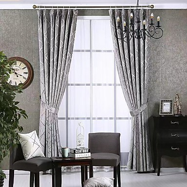 [$113.39] Modern Privacy Two Panels Curtain Bedroom Curtains