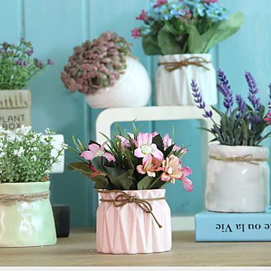 Kunstige blomster 1 Gren Klassisk Moderne Moderne Kurvplante Bordblomst
