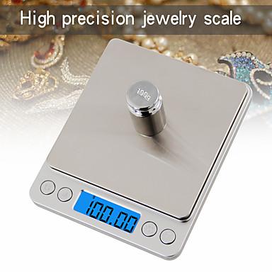 billige Forbrukerelektronikk-500g / 0.01g lcd-digital skjerm automatisk av elektronisk kjøkkenskala digital smykker skala mini lomme digital skala med 2 skuffer