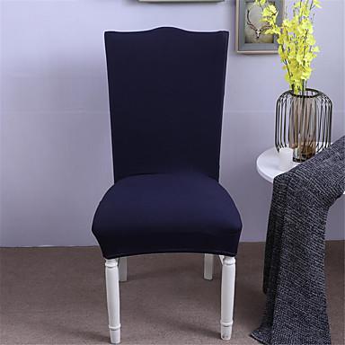 slipcovers capa de cadeira fio tingido de poliéster / estilo conciso moderno / escolha de várias cores / cor sólida