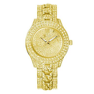 povoljno Ženski satovi-Ženeva žene modni kvarcni sat kristal rhinestone satovi dame high-end legure ručni sat