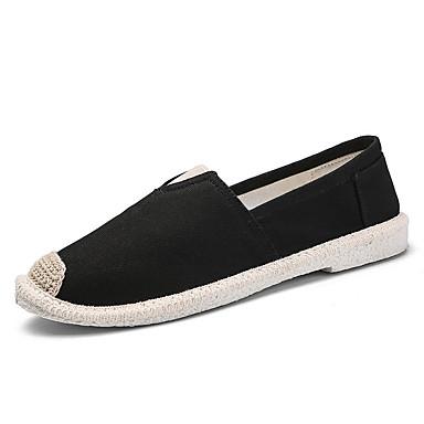 Ανδρικά Παπούτσια άνεσης Πανί Καλοκαίρι Καθημερινό Μοκασίνια & Ευκολόφορετα Μη ολίσθηση Μαύρο / Λευκό / Σκούρο μπλε