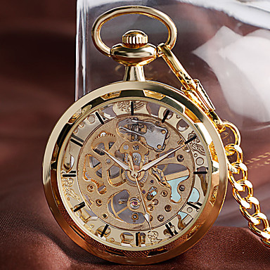cheap Pocket Watches-Men's Pocket Watch Mechanical manual-winding Gold Casual Watch Large Dial Analog Casual New Arrival - Gold