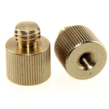 camvate 2 pack 1 / 4-20 adaptador de rosca fêmea para 3 / 8-16 rosca macho c1243
