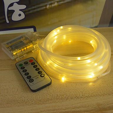 10 m Lysslynger 100 LED Varm hvit / Hvit / Multifarget Vanntett / Fest / Dekorativ AA batterier drevet 1set