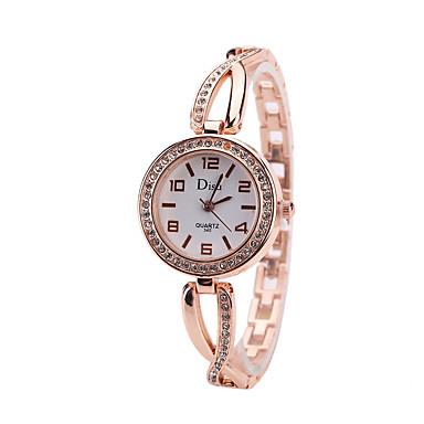 levne Pánské-Dámské Náramkové hodinky Kubický zirkon Na běžné nošení Elegantní Růžové zlato Slitina čínština Křemenný Růžové zlato zlatá + bílá Hodinky na běžné nošení imitace Diamond 1 ks Analogové Jeden rok