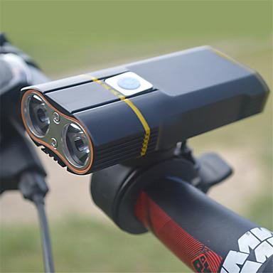 LED Luzes de Bicicleta Luz Frontal para Bicicleta Lanterna Ciclismo de Montanha Moto Ciclismo Impermeável Rotação 360° Múltiplos Modos Super brilhante 18650.0 900 lm Recarregável USB Branco Campismo