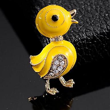 levne Dámské šperky-Dámské Brože Kachna Cute Style Brož Šperky Žlutá Pro Denní