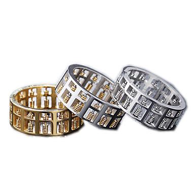 billige Motering-Herre Band Ring Ring 1pc Gull Sølv Rose Gull Titanium Stål Sirkelformet Vintage Grunnleggende Mote Daglig Smykker