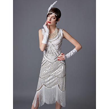 26 99 The Great Gatsby Charleston 1920s Roaring Twenties 20s Fler Dress Women S Sequins Costume Black Golden White