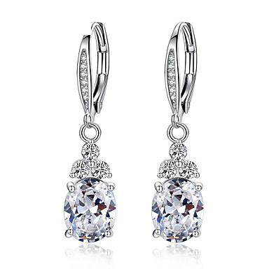 levne Dámské šperky-nová autentická bílá& modrý krystal antialergický pro životní prostředí módní měděné zirkonové šperky kapka náušnice