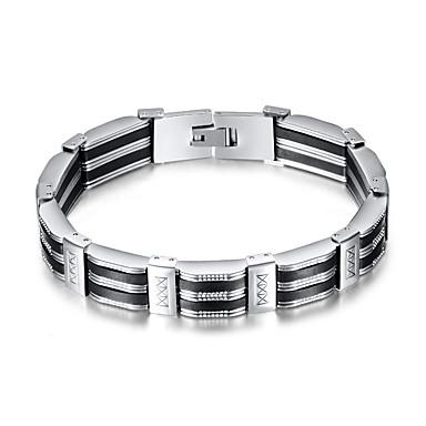 voordelige Herensieraden-Heren Wide Bangle Retro Kruis Punk Titanium Staal Armband sieraden Zilver / Zwart Voor Dagelijks