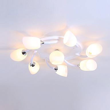 JSGYlights 8-luz Sputnik Apliques de Tecto Luz Ambiente Acabamentos Pintados Metal Vidro Novo Design 110-120V / 220-240V / E26 / E27