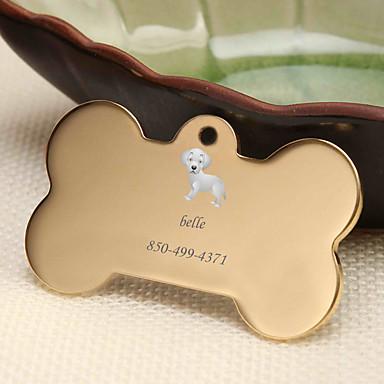 Personalizado Personalizado Golden Retriever Pet Tags Clássico Presente Diário 1pcs Dourado Prata Rosa Dourado
