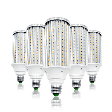 preiswerte LED-Kolbenlichter-LOENDE 5 Stück 80 W LED Mais-Birnen 8000 lm E26 / E27 T 216 LED-Perlen SMD 5730 Warmes Weiß Weiß 85-265 V