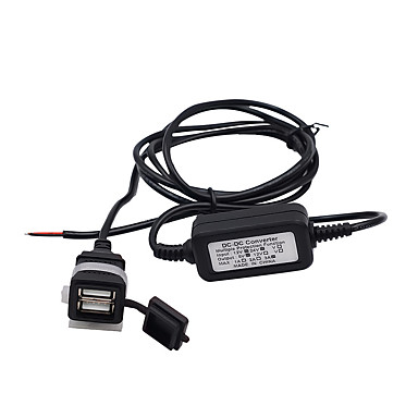 levne Auto Elektronika-12 / 24v motocykl / auto / rv mobilní telefon nabíječka univerzální dual usb vodotěsný nabíječka modelscs-542a1