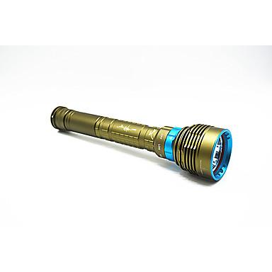 Lanternas de Mergulho Impermeável 900 lm LED 1 Emissores Manual Modo Iluminação Impermeável Campismo / Escursão / Espeleologismo Mergulho / Náutica Verde Tropa