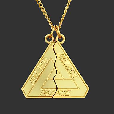levne Pánské šperky-Pánské Náhrdelníky s přívěšky Řetízky Náušnice Náhrdelník Geometrické Jedinečný design Módní Nerez Zlatá Stříbrná 70 cm Náhrdelníky Šperky 1ks Pro Street / dlouhý náhrdelník