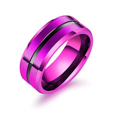 voordelige Herensieraden-Heren Bandring Ring 1pc Zwart Paars Blauw Roestvast staal Stijlvol modieus Feest Dagelijks Sieraden Klassiek Kostbaar
